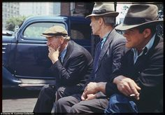 Colour Kodachrome from 1940s New York City