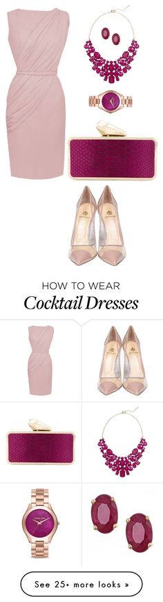"""""""Cocktail Party"""" by nadia-n-pow on Polyvore featuring Semilla, KOTUR, Michael Kors, Eye Candy and Anika and August"""