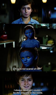Mystique and Charles X meet in Xmen First Class