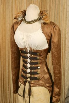Steampunk corset and jacket/vest. <3 #provestra
