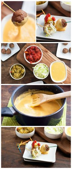 Frozen meatballs get transformed into cheeseburgers with this fun fondue recipe!