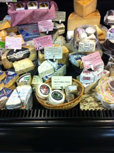 part of the cheese display at Earth Fare in Fairlawn