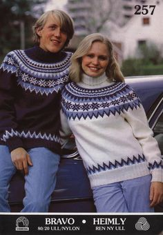 Fair Isle Knitting Patterns, Sweater Knitting Patterns, Knit Patterns, Norwegian Knitting, Ski Sweater, Vintage Knitting, Knitwear, Knit Crochet, Sweaters For Women