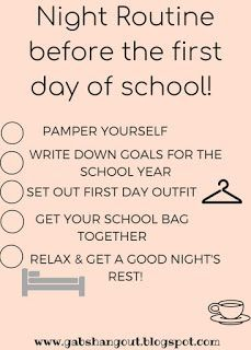 Night Routine before the first day of school! Night Routine before the first day of school! The post Night Routine before the first day of school! appeared first on School Diy.