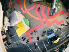 Intervención Urbana: Huellas Artes, un toque de color para el centro de Santiago
