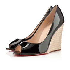 Christian Louboutin Womens puglia 100mm Black Patent Leather Sandals