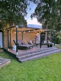 Backyard Garden Landscape, Pergola Garden, Outdoor Pergola, Diy Pergola, Outdoor Areas, Garden Pavillion, Diy Terrasse, Backyard Fireplace, Privacy Landscaping