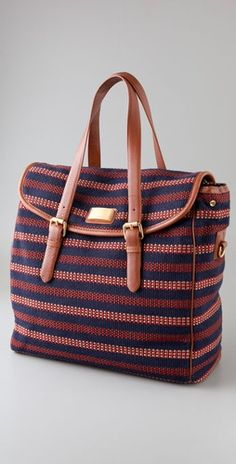 Marc by Marc Jacobs Saddlery Striped Lou Lou Satchel I need this