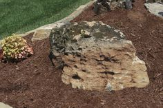 Love the rustic look of this Weathered Limestone boulder! It is such a unique and rustic piece for any landscape!