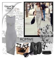 """""""Great Style Dress w/ Romwe"""" by leonis-moda ❤ liked on Polyvore featuring Pennyblack, Luichiny, Yves Saint Laurent, Spring Street, contest, romwe, contestentry, groupcontest and polyvorecontest"""
