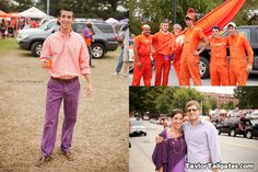 Make sure you wear orange and purple when at Clemson on gameday!