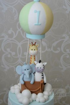 Hot air balloon cake by designed by mani