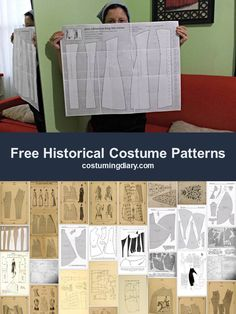 A list of free historical medieval, Elizabethan and Victorian costume patterns.