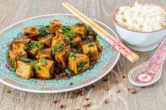 Mapo Doufu 麻婆豆腐 Asian Recipes, Ethnic Recipes, Kung Pao Chicken, Chinese Food, Tofu, Vegan Vegetarian, Sushi, Deserts, Curry