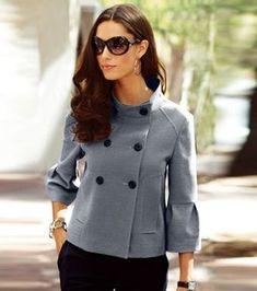 Smart Casual Wear, Casual Chic, Coats For Women, Jackets For Women, Clothes For Women, Office Fashion Women, Womens Fashion, Hijab Fashion, Fashion Outfits