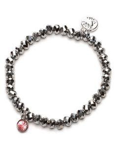 #proudmama #armband charm zilver-roze