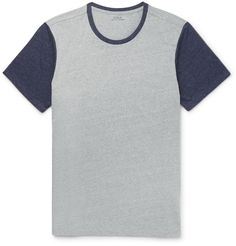 SLIM-FIT TWO-TONE MéLANGE JERSEY T-SHIRT POLO RALPH LAUREN