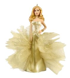 2009 Barbie - 50 Years Of Fabulous Hallmark ornament. Barbie is the absolute picture of high class in this anniversary tribute created by designer Rob Hallmark Christmas Ornaments, Hallmark Holidays, Christmas Gift Decorations, Hallmark Keepsake Ornaments, Christmas Barbie, Christmas Fun, Barbie Fashion Royalty, Gold Gown, Barbie Dream