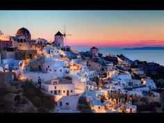 Santorini, Greece is one of the most relaxing and beautiful places to take a vacation. The signature blue dome buildings are famous and easily recognizable. Oia Santorini is truly a masterpiece. Top Greek Islands, Greek Islands To Visit, Romantic Destinations, Travel Destinations, Romantic Getaways, Wonderful Places, Beautiful Places, Beautiful Islands, Beautiful Pictures