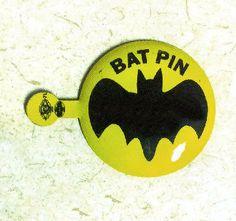 1960s Batman Fold-Over Bat Pin Badge from Gum Machines. $4.00, via Etsy.