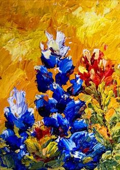 Niki Gulley » Texas wildflower painting