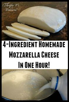 4-Ingredient Homemade Mozzarella Cheese In One Hour!
