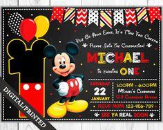 Invitación de Mickey Mouse invitación de cumpleaños por OMGPrints1