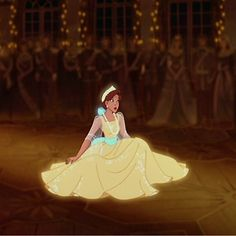 Princess anastasia yellow dress