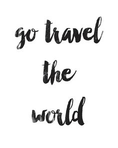 Go Travel The World Poster