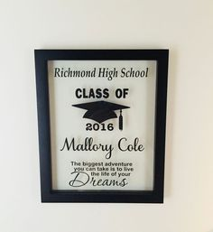 Excited to share this item from my shop: Personalized Picture Frame Graduation Graduation Gift High School High School Graduation Gift High School Graduation Gift High School Graduation Gifts, College Student Gifts, Graduation Presents, Grad Gifts, Graduation Cards, Graduate School, Graduation Ideas, Graduation Quotes, Graduation Shirts