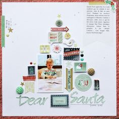 #papercraft #scrapbook #layout      dear Santa* Basic Grey DT by sophie crespy at @Studio_Calico