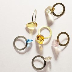 gallery deux poissons : slit ring silver/gold stone | Sumally