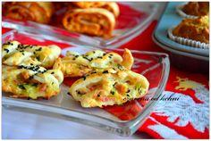 Ciasteczka francuskie z szynką i cukinią – czarrnaodkuchni