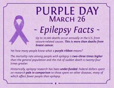 Purple Day for Epilepsy Awareness - Wear purple on March Epilepsy Tattoo, Epilepsy Quotes, Epilepsy Facts, Epilepsy Seizure, Epilepsy Awareness Day, Seizure Disorder, Purple Day, Seizures, Breast Cancer