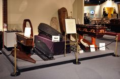 National Museum of Funeral History - Houston - Part of the Museum's collection of coffins and caskets from the 19th and 20th centuries