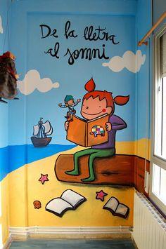 Pared de la biblioteca Turu, Book Art, Posters, India, Illustration, Books, Classroom Setting, Education System, Positive Quotes