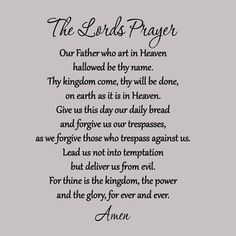 The Lords Prayer Wall Decal Bible Quote Christian Wall Scripture Home Wall Art Prayer Wall, Prayer Verses, Bible Prayers, Faith Prayer, God Prayer, Prayer Quotes, Faith Quotes, Bible Quotes, Bible Verses