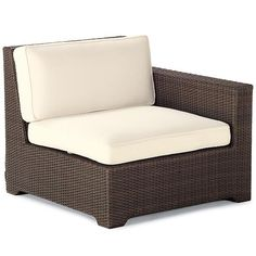 Palermo Right-facing Chair with Cushions in Bronze Finish
