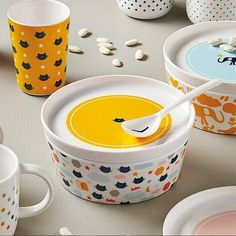 Coffret repas - Chats Measuring Cups, Dog Bowls, Store, Bowls, Tableware, Casket, Meal, Cats, Measuring Cup