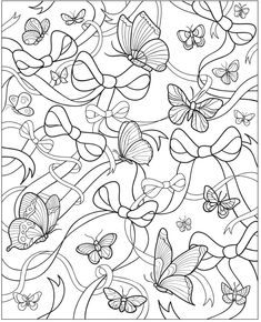 Welcome to Dover Publications - butterfly coloring page