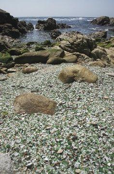 Praia dos cristais. Baleeira.Laxe