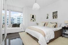 bedroom - Bright Two Bedroom Apartment in Stockholm