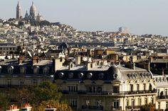 Outskirts of Paris, with view of Sacré-Cœur.