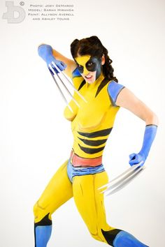 Impressive Wolverine Costume That's All Paint