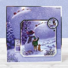 Card created using Hunkydory Crafts' Let it Snow! Homemade Christmas Cards, Christmas Crafts, Christmas Ideas, Christmas Ornament, 3d Cards, Xmas Cards, Hunkydory Crafts, Snowman Cards, Card Making Techniques