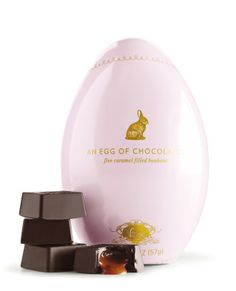 Vosges Haut-Chocolat Easter Luxury Gourmet Gifts - Chocolate Bunnies, Wink of the Rabbit Caramels, Bacon Eggs, Enchanted Mushroom, and Exotic Truffles. - Petits Chocolat Tin Egg