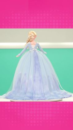 Elsa Cake | Use our easy to follow video tutorial to create this gorgeous doll cake. Perfect for the Elsa lover in your family this cake will be a show stopper at your next party! | How To Cake It #Baking #Elsa #recipes Barbie Birthday Cake, Frozen Birthday Cake, Birthday Cake Girls, Cake Decorating Frosting, Cake Decorating Videos, Cake Decorating Techniques, Frozen Doll Cake, Elsa Doll Cake, Elsa Frozen Cake