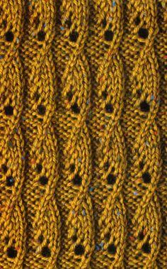 Рельефный узор с листьями спицами 12