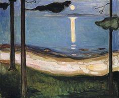 Edvard Munch, Moonlight - 1895 on ArtStack #edvard-munch #art