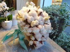 Bouquet da sposa fiori di cotone